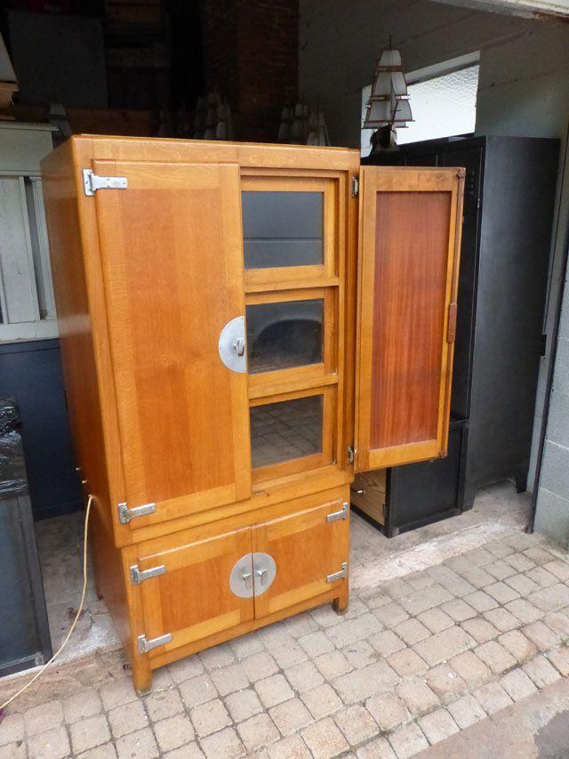 ancienne étuve de laboratoire 1950 meuble de m¨tier