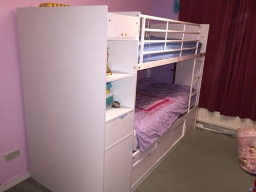 Latest Bunk Bases for Children with Built in Under Bed Storage Style - New single bunk bed Simple