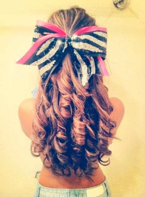 Top 50 Cute Girly Hairstyles With Bows Girly Hairstyles Bow Hairstyle Dance Hairstyles