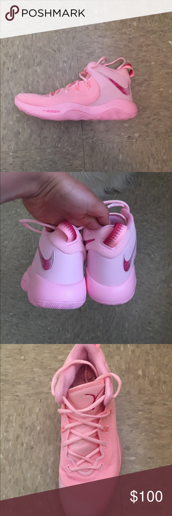 Nike Zoom Basketball Pink Game Shoes Pink Games Nike Zoom Shoes