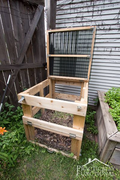 12 creative diy compost bin ideas composting gardens and diy compost bin. Black Bedroom Furniture Sets. Home Design Ideas