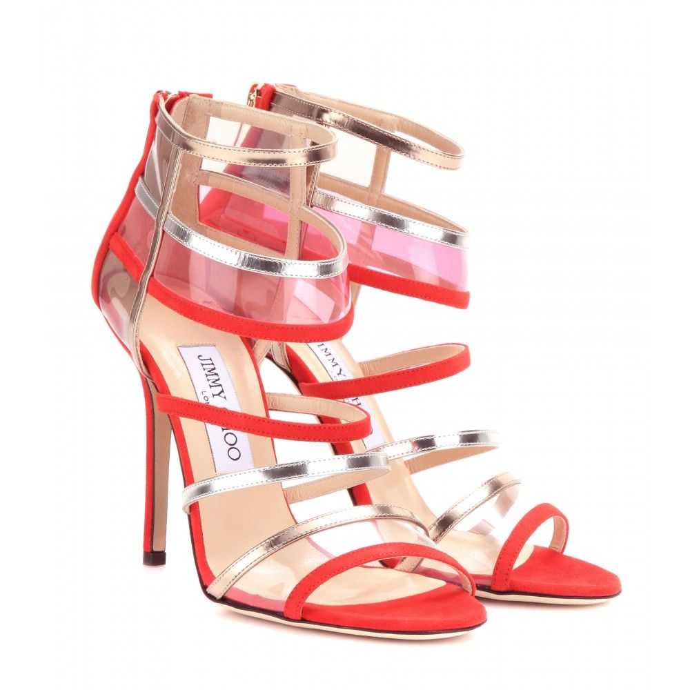 Jimmy Choo Maitai leather and Suede Sandals #shoeobsession #fashion