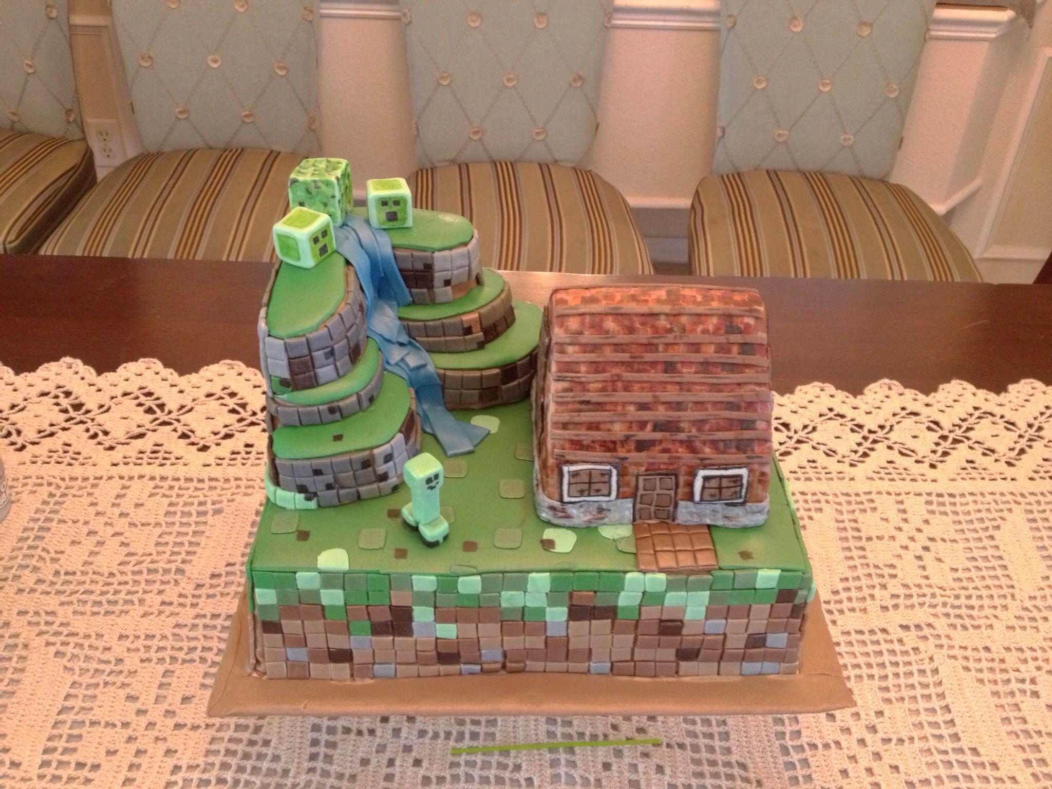 Homemade MineCraft cake … Cake ideas for mary