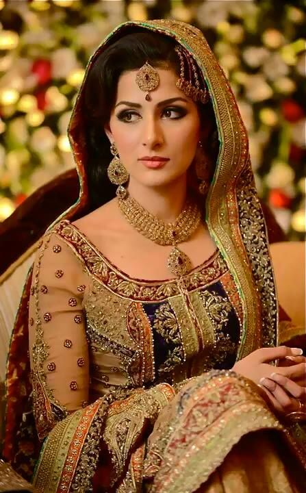 Latest Mehdi Bridal Dresses Collection 2014 For Pakistani Women (9)