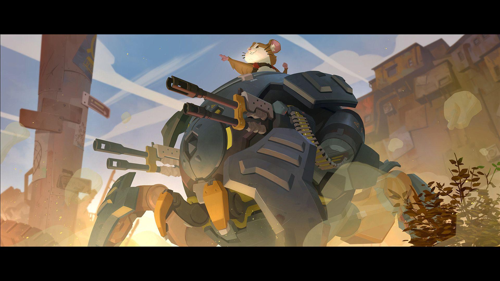 Artstation Wrecking Ball Origin Story Nesskain Hks Overwatch Wallpapers Overwatch Wrecking Ball