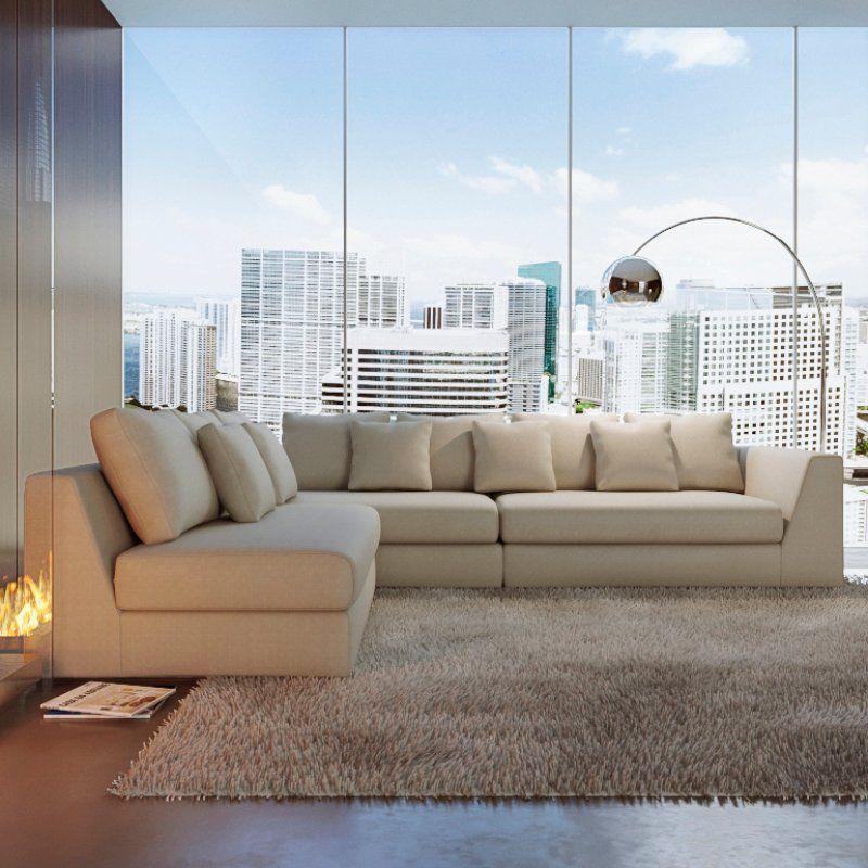 Brandi Reversible Sleeper Sectional Leather Sectional Sofas