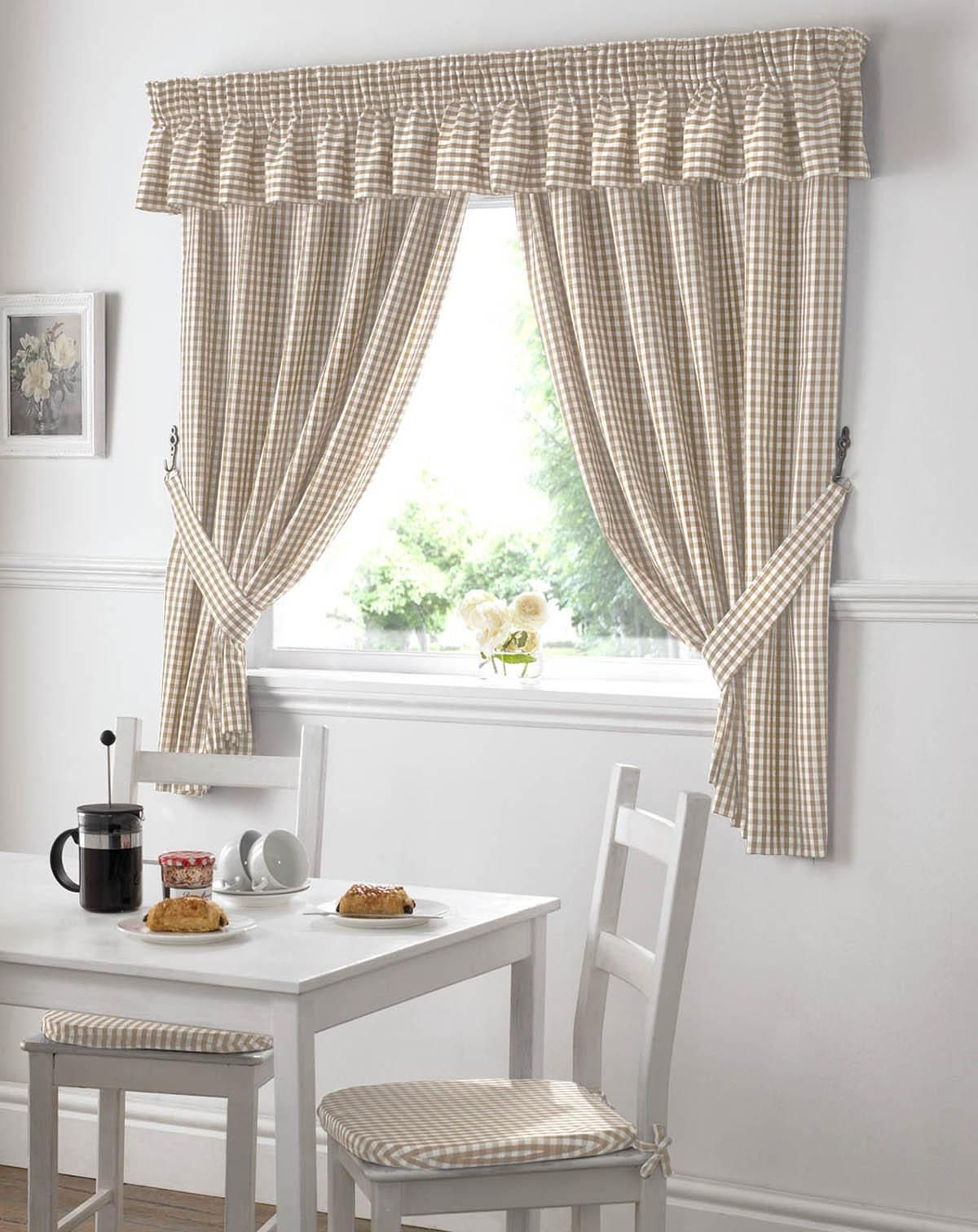Beige And White Kitchen Curtains  Httplatulufeed Mesmerizing White Kitchen Curtains Decorating Inspiration