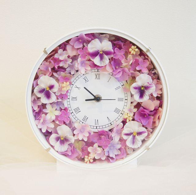 ☆ Minne.com ☆ Flower Clock ~ Violet & Pink ~