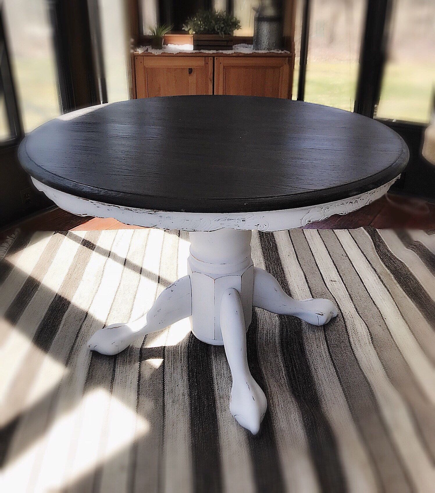 Vintage Wooden Accent Table Rustic Entryway Table Farmhouse Table Country Furniture Console