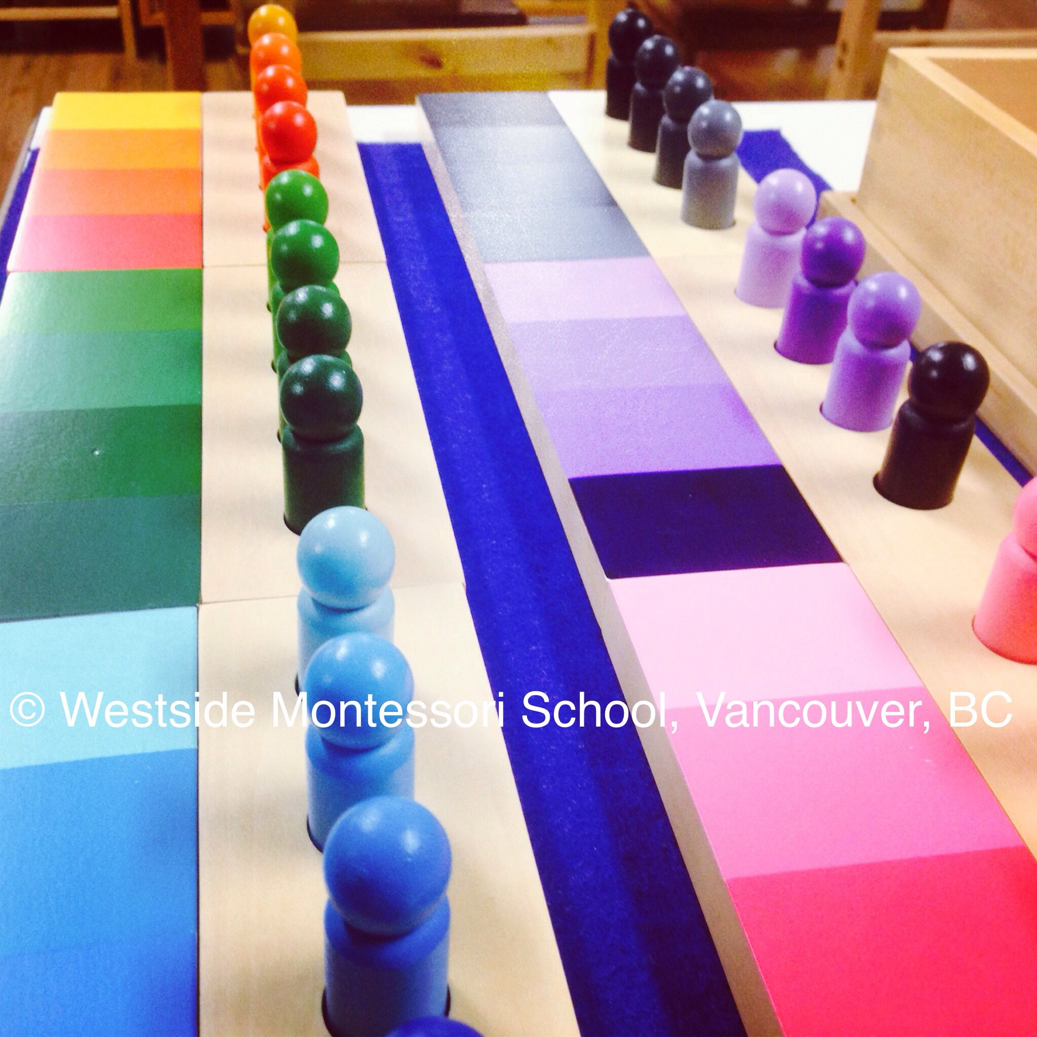 Color Gradation Matching colors and recognizing shades and grades Such beautiful Montessori extension material