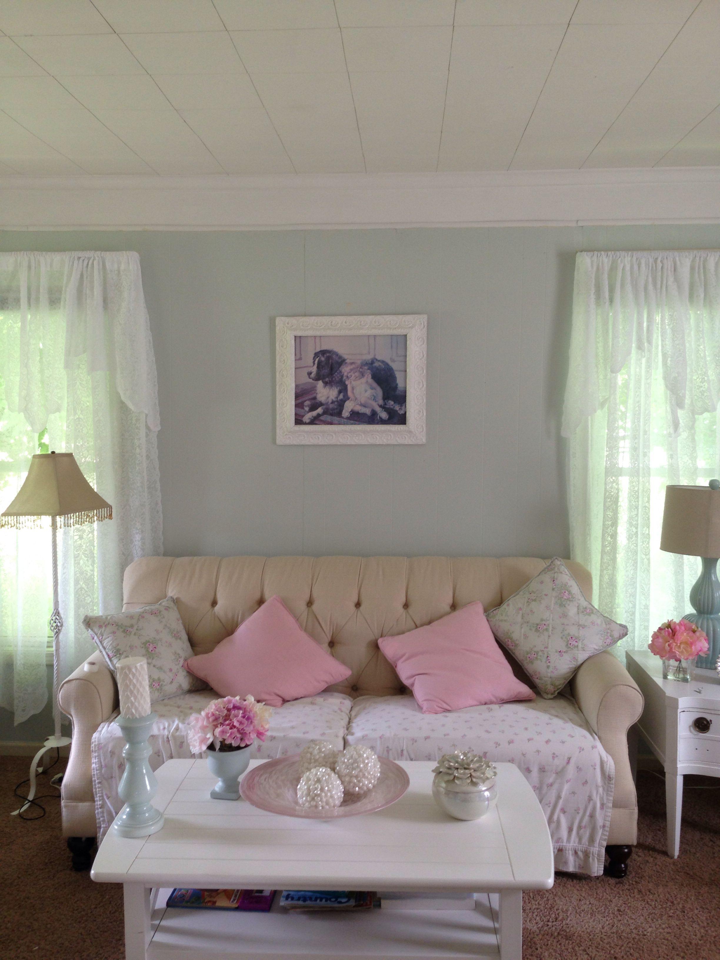 Master bedroom benjamin moore s healing aloe paint color