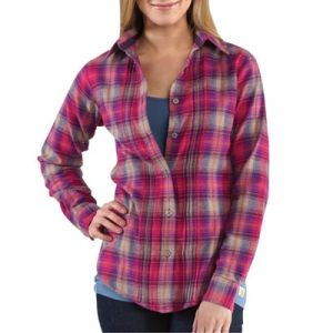 Carhartt Misses Irvine Flannel Shirt - Tulip Pink - Mills Fleet ...