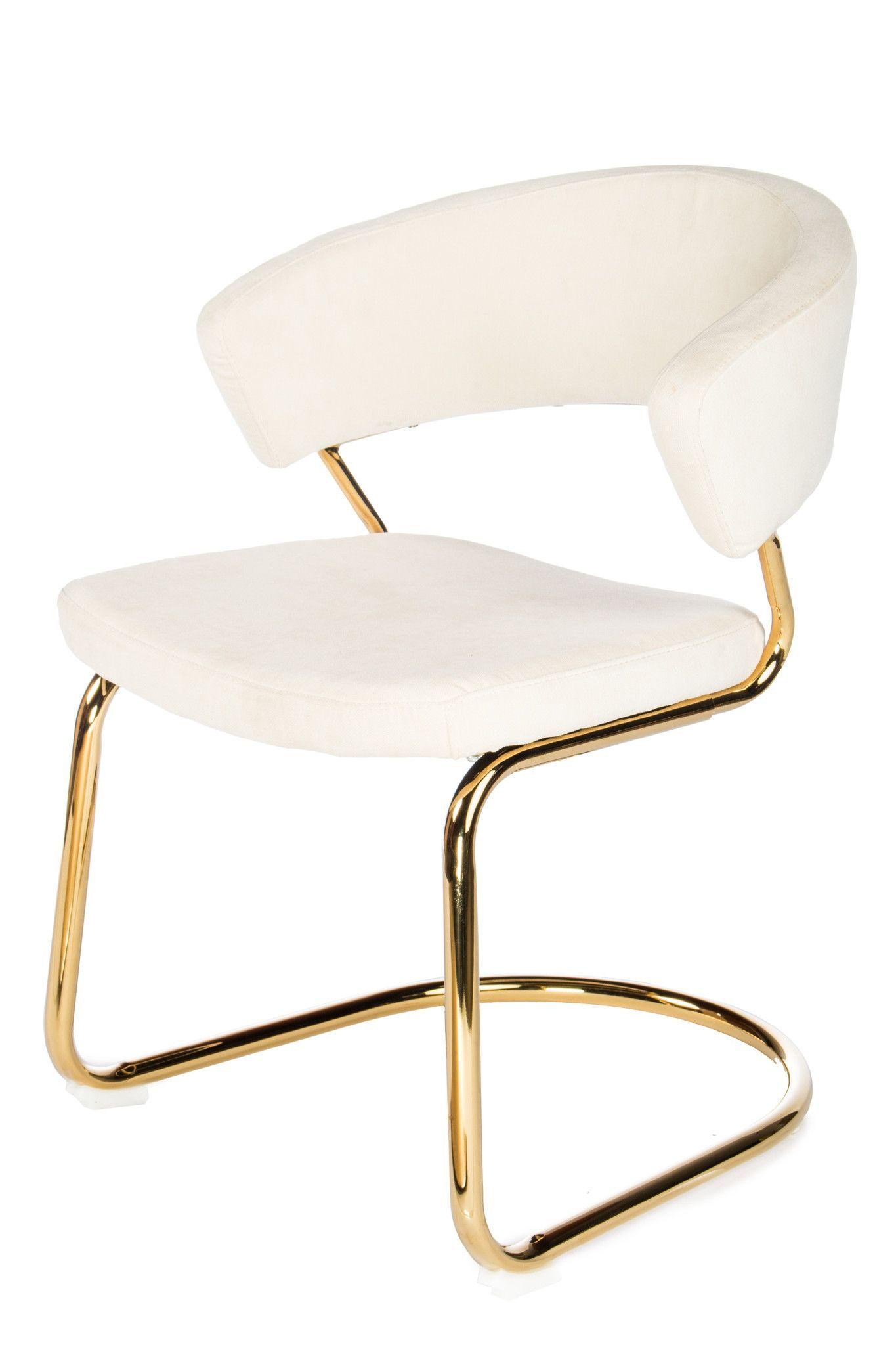 Elegant Modern Cream Dining Chairs