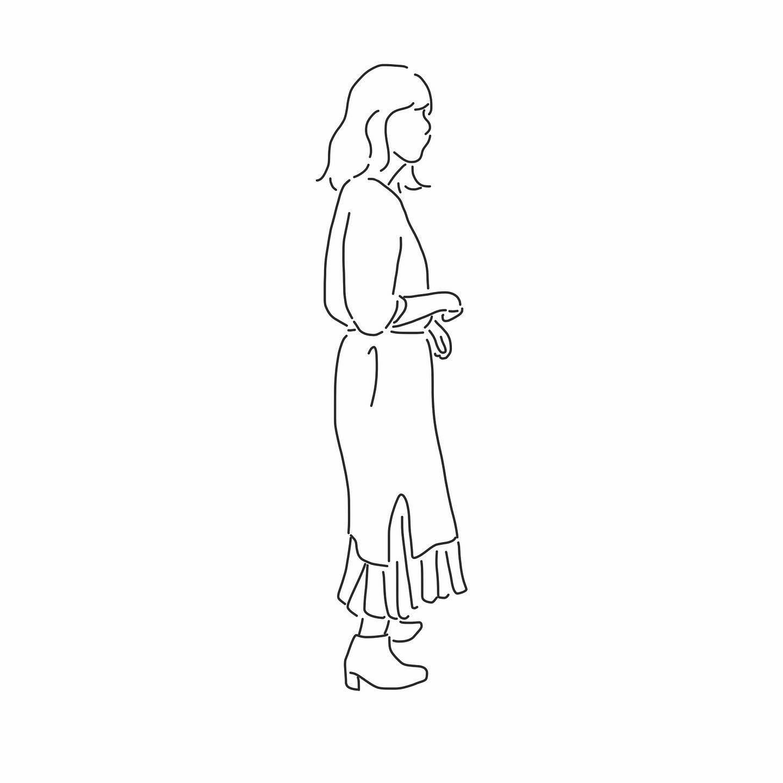先輩のアイコン スクエアブーツほしいなぁ おすすめのショップがあれば こっそり教えてください スクエアブーツ コーデ 韓国 服 洋服好きな人と繋がりたい 今日のコーデ Wear更新 ワンピース プリーツスカート イラスト 線画 デザイン