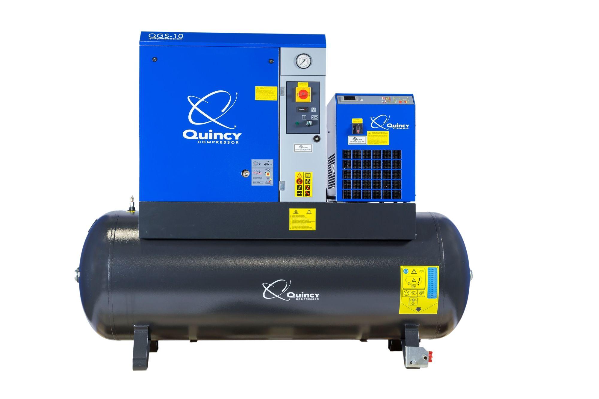Quincy Qgs 10 Hpd 10 Hp Rotary Screw Air Compressor 120