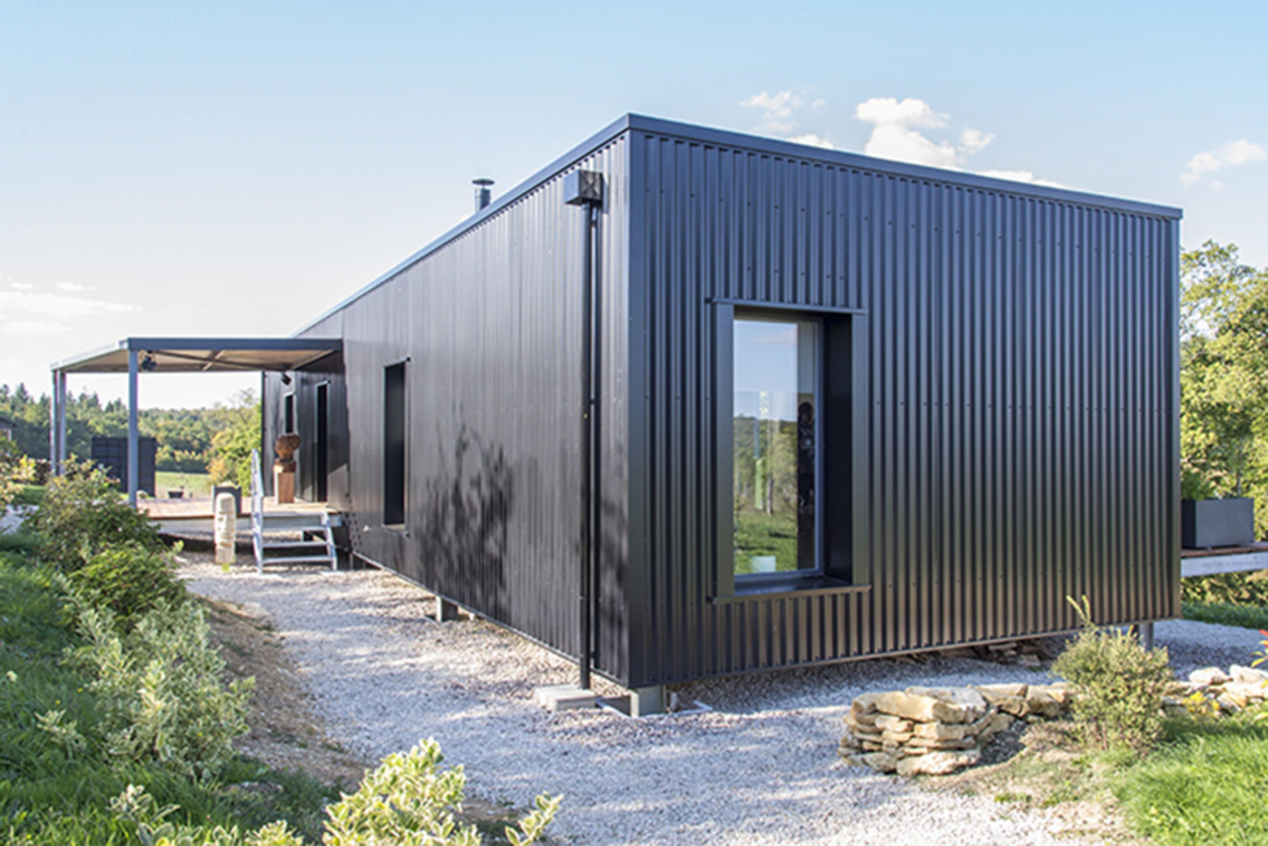 cool shipping container home in the french countryside pinterest