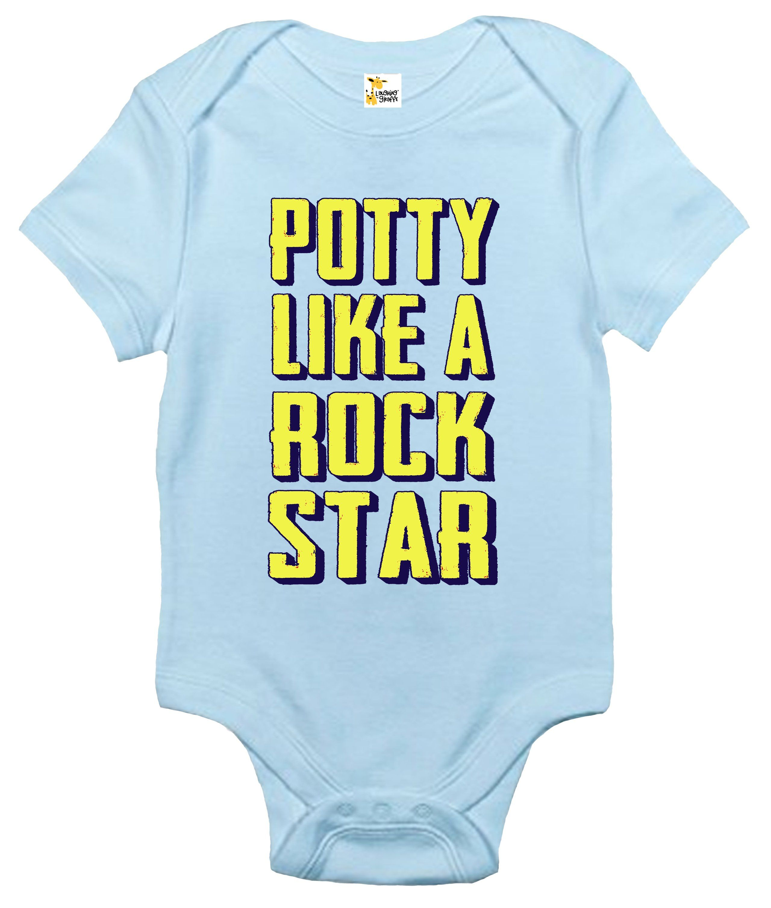 Baby Bodysuit Potty Like a Rock Star