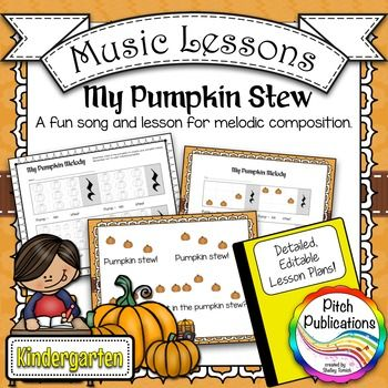 Kindergarten 1st Grade Music Lesson - Pitch Melody Composition - music lesson plan