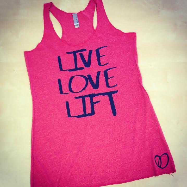 Live Love Lift // Fun Fitness Clothing by AbundantHeartApparel on Etsy https://www.etsy.com/listing/204856577/live-love-lift-fun-fitness-clothing