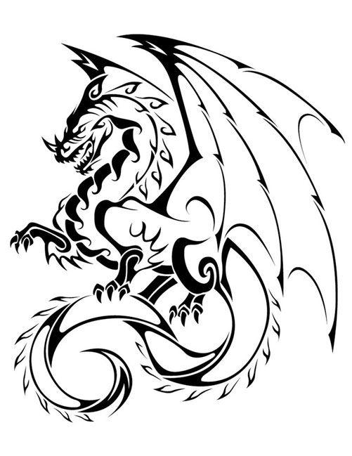 cool tribal dragon tattoo jpg
