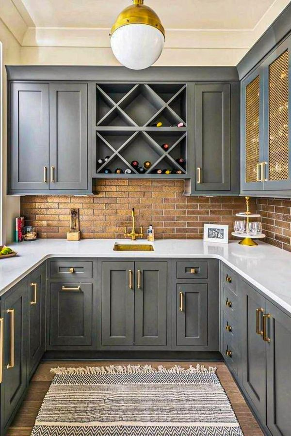50+ Cute grey kitchen cabinets Design ideas for Home