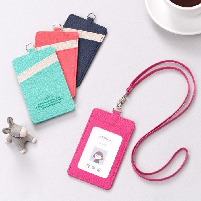 Ardium Card Holder Flat Case With Detachable Neck Strap Id Card Template Card Holder Card Holder Wallet