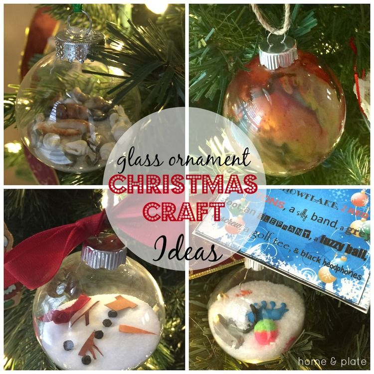 glass ornament christmas craft ideas