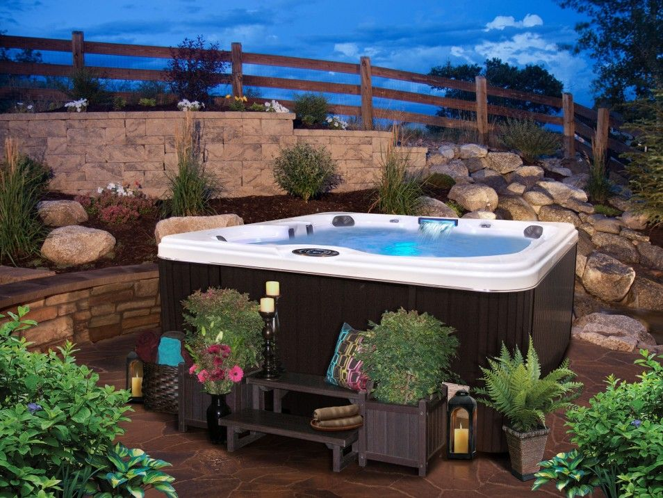 Incroyable Best Backyard Spa Ideas In The World Backyard In Ground Spa Ideas Bathroom  Chic Backyard Landscaping