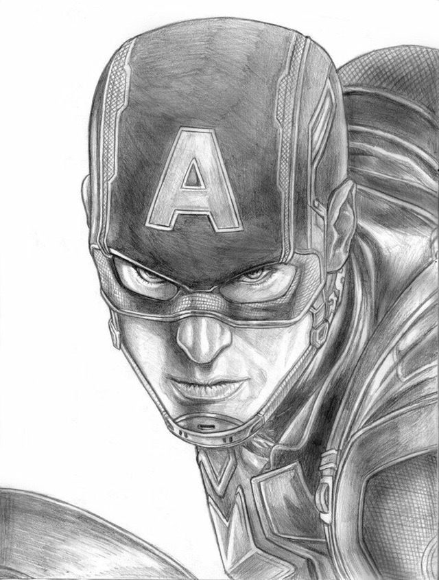 Drawings How To Draw Captain America Drawing Drawing Superheroes Captain America Sketch