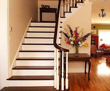 Dark Stair Treads   Interesting Two Tones Of Wood