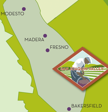 Central San Joaquin Valley Of California Map Of Wine Grape Growing Regions In California