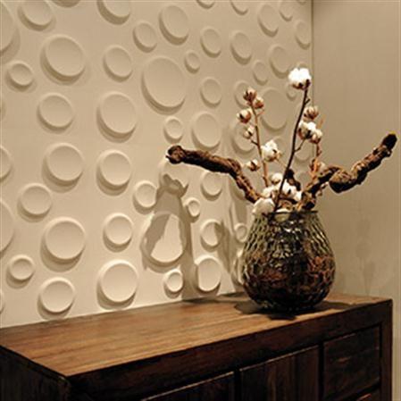 Set de 12 paneles con relieve para pared Craters, 3 m² Decoració