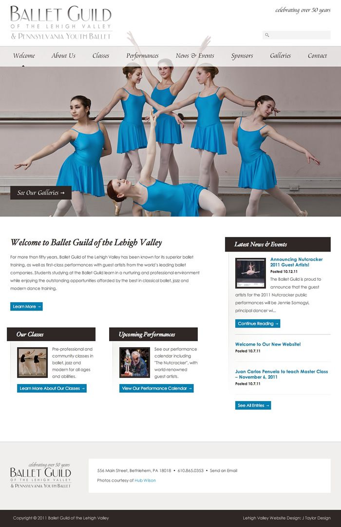 Projects Lehigh Valley Web Design J Taylor Design Ballet Lehigh Valley Web Design