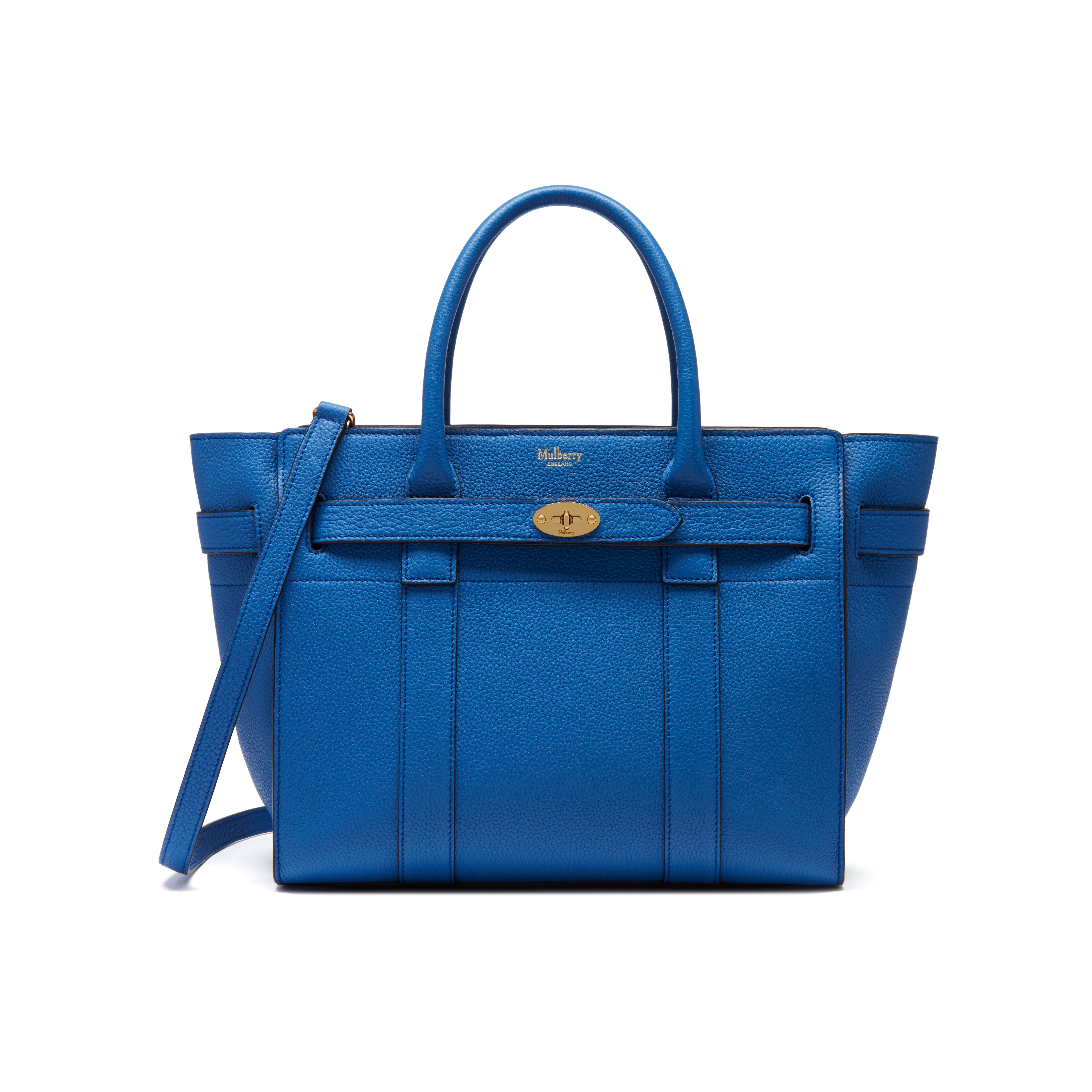 597c65b87156 Shop the Small Zipped Bayswater in Porcelain Blue Small Classic Grain  Leather at Mulberry.com. The Bayswater is our most iconic bag