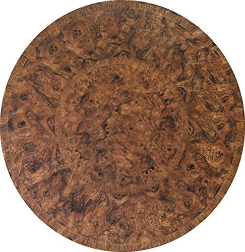Fitted Round Tablecloth Fits 44 To 48 Inch Tables Brown Maple