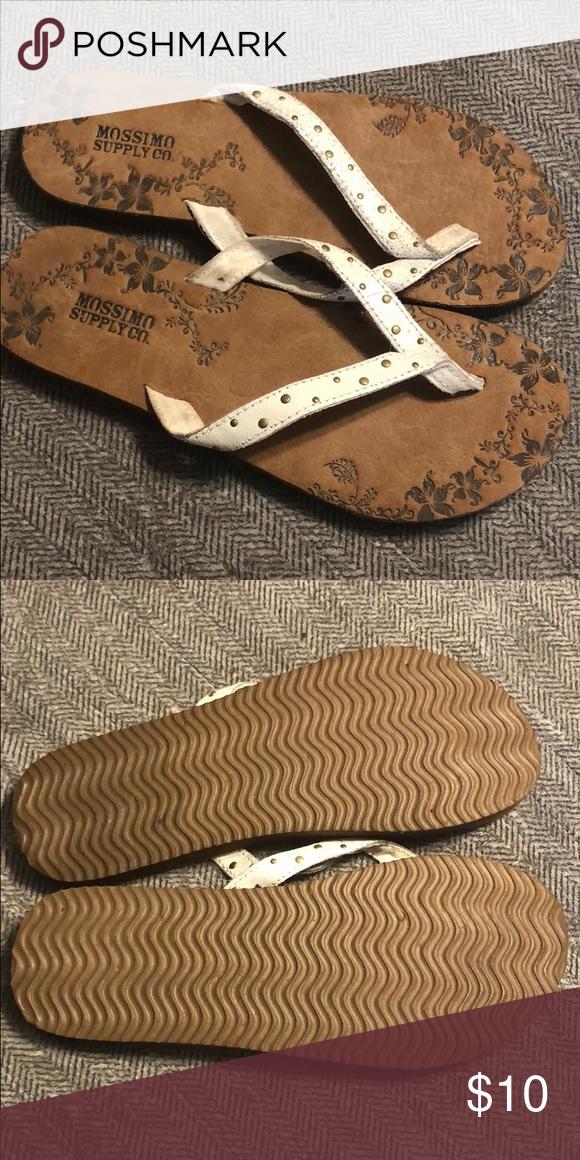 Vintage Mossimo Flipflops Wie Neue Distressed Leder Flip Flops Von