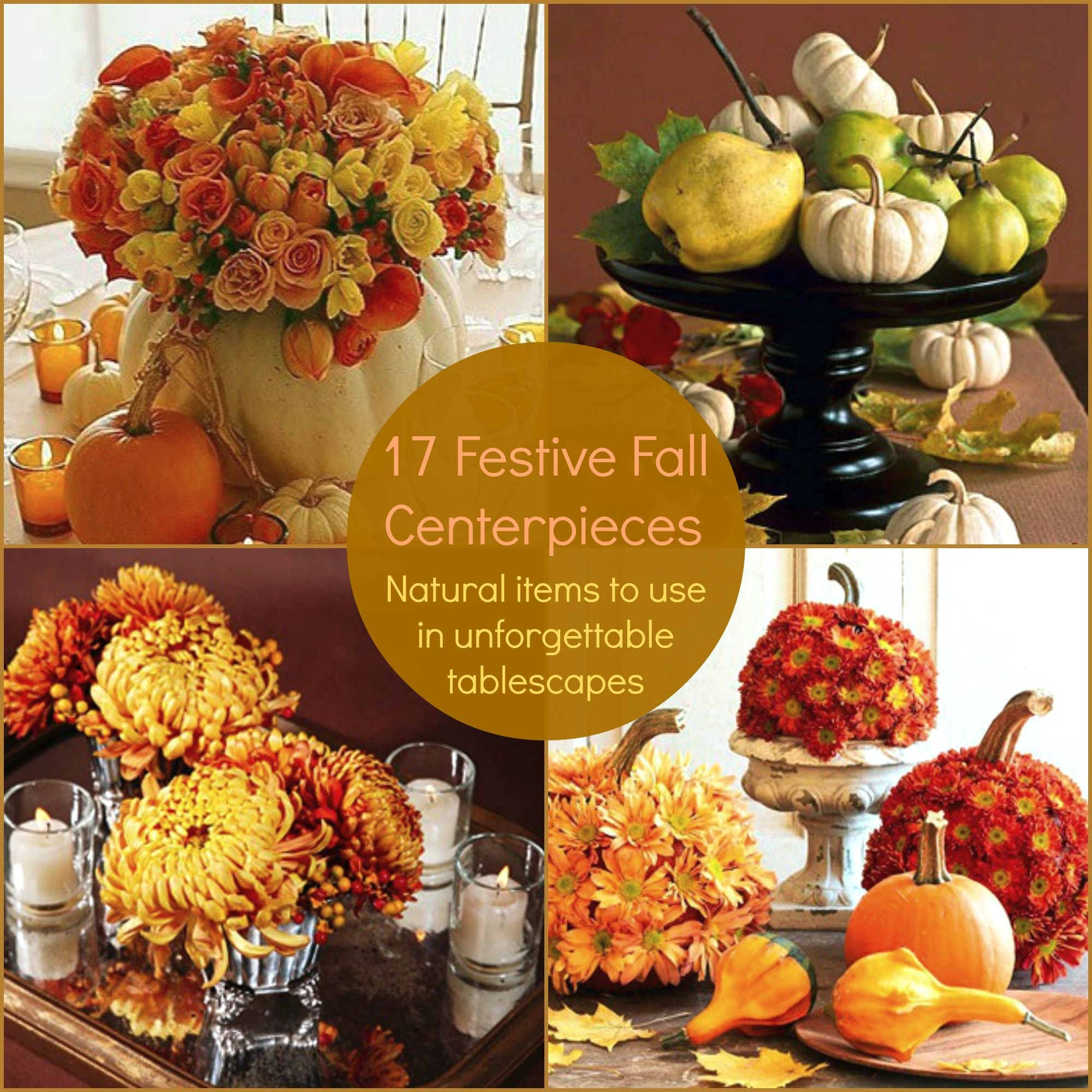 19 Festive Fall Centerpieces