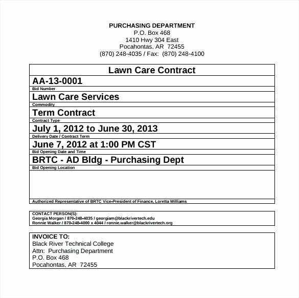 commercial landscape maintenance contract template