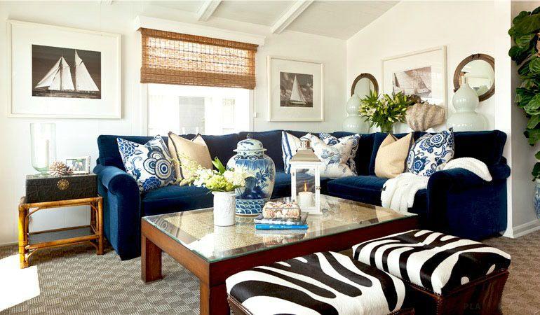 Barclay Butera Interior Design   Upstairs Living Room Inspiration. Bamboo,  Blue/white/