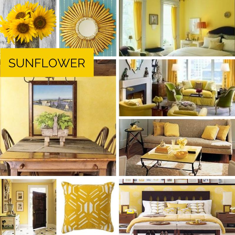 Sunflower Inspired Home Decor #sunflower #themed #living #room