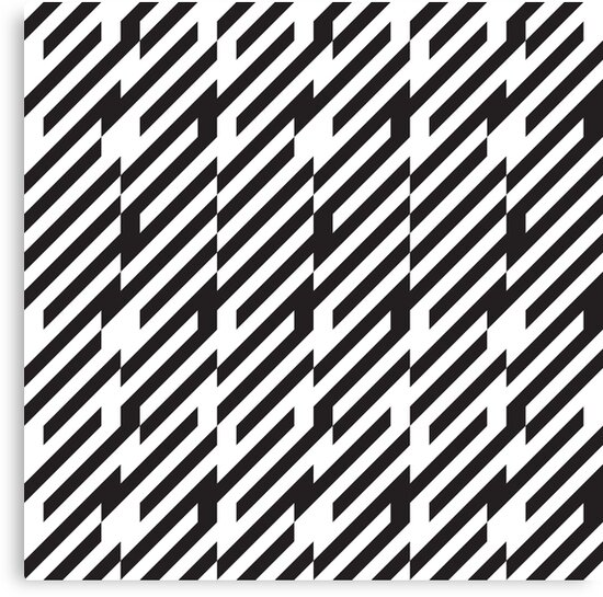 Abstract Black And White Lines Pattern Canvas Print By Kallyfactory Black And White Lines Optical Illusions Patterns Canvas