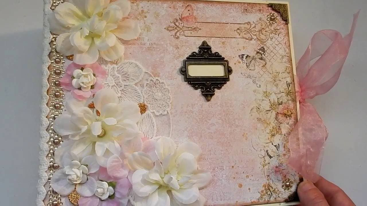 Romantic floral wedding album scrap patterns pinterest album