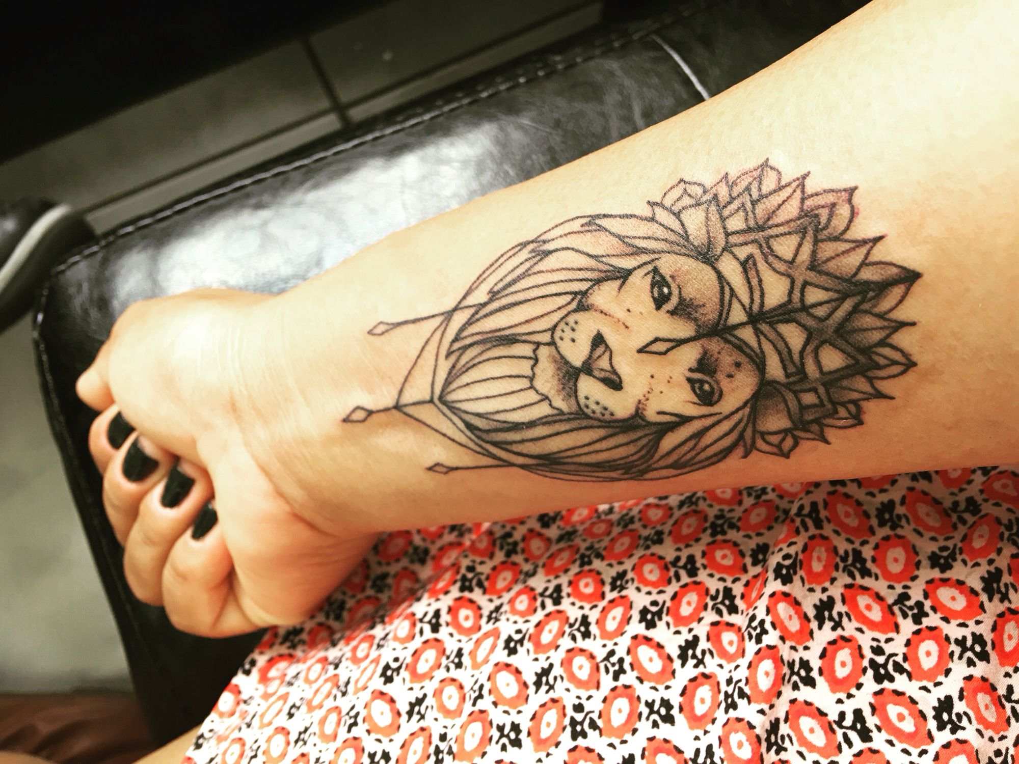 Finally, my first ink! Lioness tattoo, lion goddess, wrist