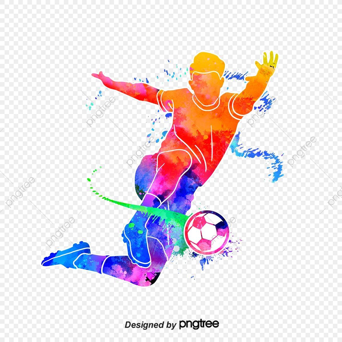 Silhueta De Jogadores De Futebol Criativo Futebol Multicolorido Personagem Imagem Png E Psd Para Download Gratuito Soccer Art Soccer Tattoos Football Players