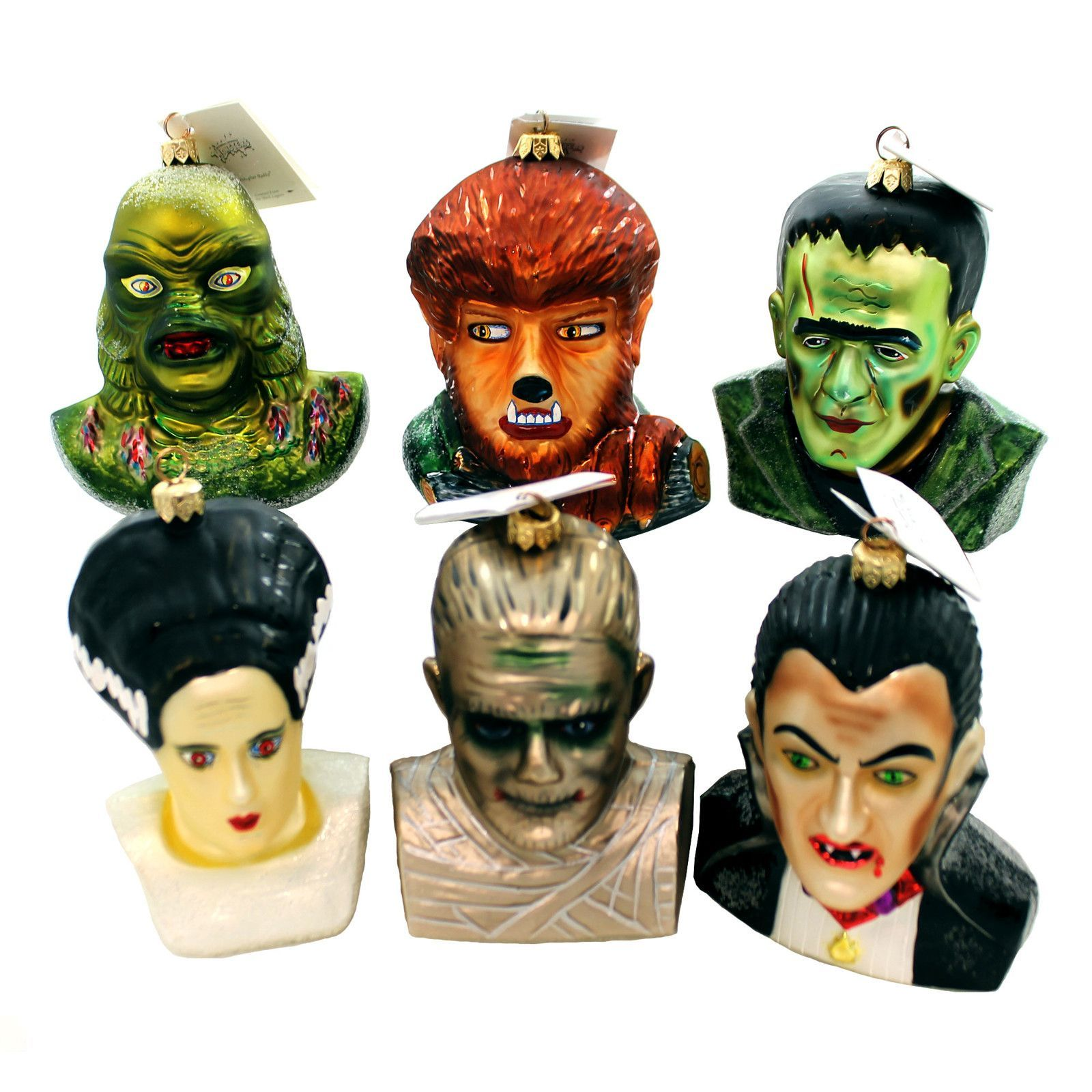 Monsters By Universal Studios Ornament Set