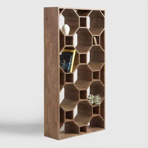 A Striking Statement Piece On Its Own, Our Honeycomb Shelf Is There For You  To Hold Cherished Tchotkes, Air Purifying Houseplants Or Beautiful Objets  Du0027art.