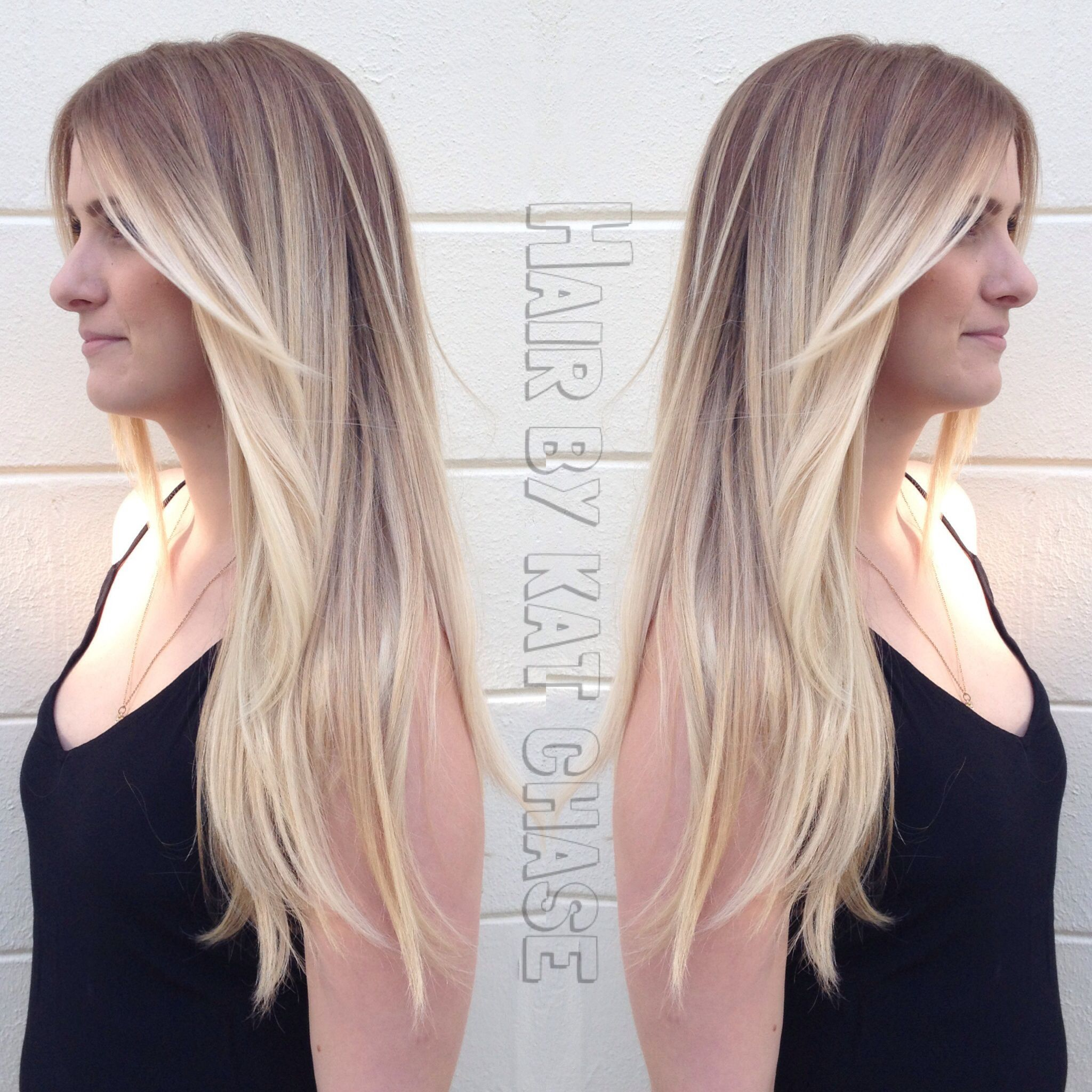 blonde ombré hair with layers Hair Beauty Pinterest