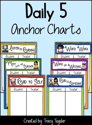 Free Daily 5 Anchor Charts