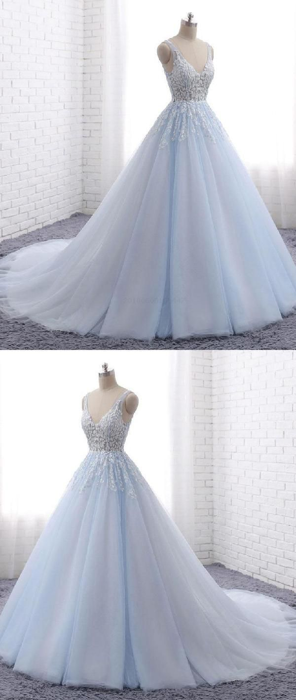 Vneck blue qprom prom dresses pinterest blue