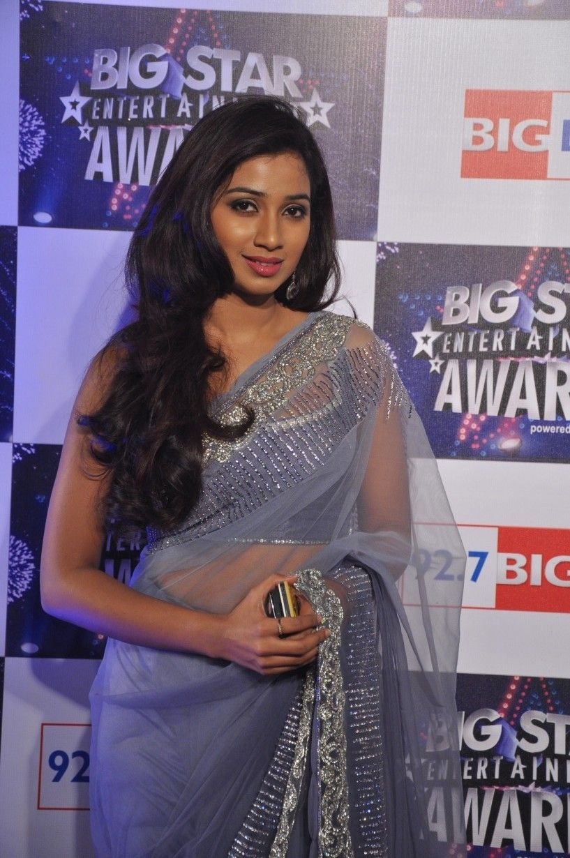 Stunning Shreya Ghoshal In An Award Function  Darlings  Saree, Shreya Ghoshal Hot -1649